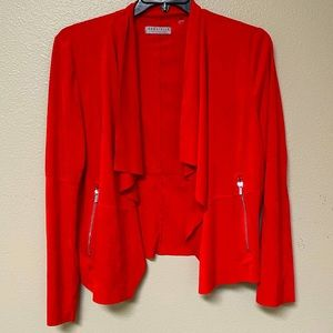 Bagatelle Collection Red Suede-like Sweater (XL)